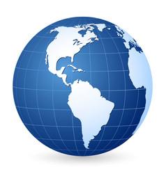 blue world globe vector image vector image