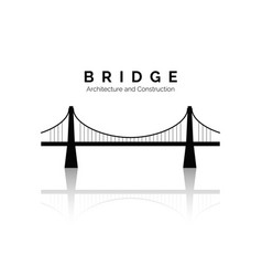 bridge icon bridge architecture and constructions vector image