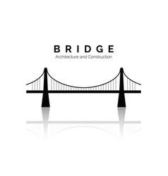 bridge icon bridge architecture and constructions vector image