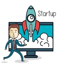Business start up flat icons vector