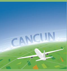 Cancun flight destination vector