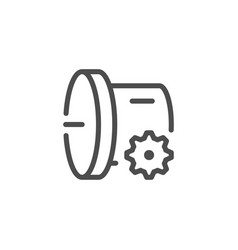 Car transmission line icon vector
