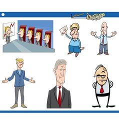 Cartoon business set vector