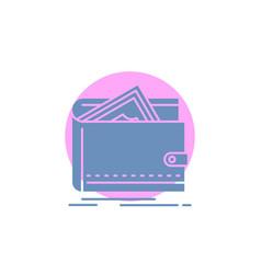 cash finance money personal purse glyph icon vector image