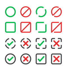 checkbox icon set vector image