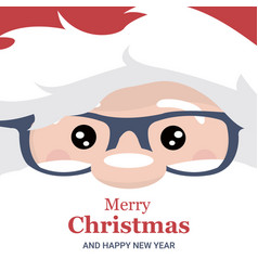 Christmas card brochure of santa claus face vector