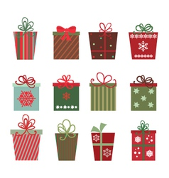 christmas gifts vector image