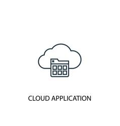 cloud application concept line icon simple vector image