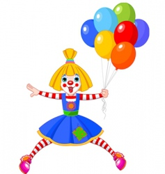 Clown girl vector