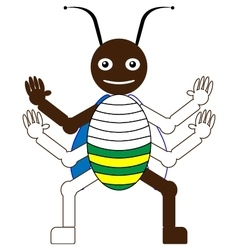 Color by example beetle vector