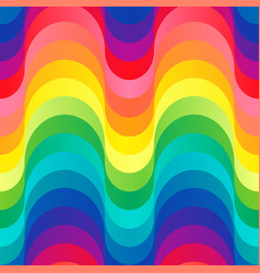 Colorful 70s pattern vector