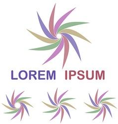 Colorful round logo design set vector