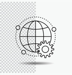 connected online world globe multiplayer line vector image