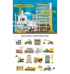 Construction Decorative Elements Set vector image