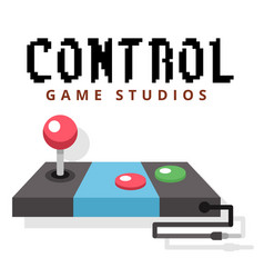 control game studios joystick background im vector image