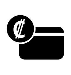 costa rica colon credit card icon vector image