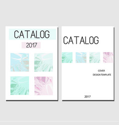 Cover design template catalog report brochure vector