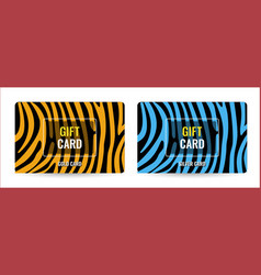 creative gift card bright pattern with brown and vector image