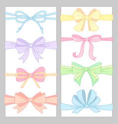 Cute color ribbons vector