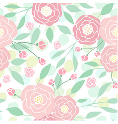 Cute pastel peony flowers on white vector