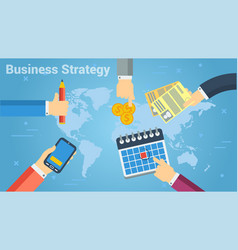 design of business strategy in team vector image