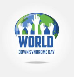 Down syndrome day design vector