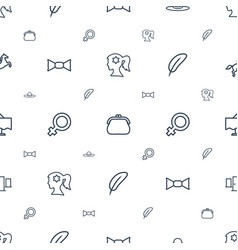 Elegance icons pattern seamless white background vector