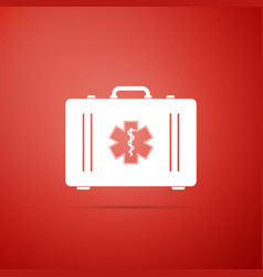 first aid box and emergency - star of life icon vector image