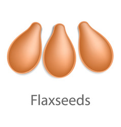 flaxseeds mockup realistic style vector image