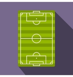 Football playground flat icon vector