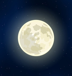 Full Moon and stars vector