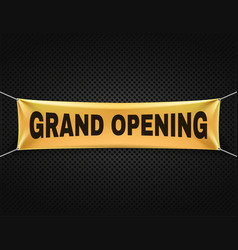 Grand opening banner text background vector
