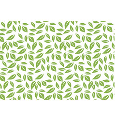 Greenery leaf seamless pattern background vector