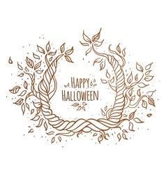 Hallowen trees vector image