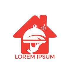 Home restaurant logo design vector