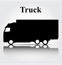icon truck on a gray background vector image