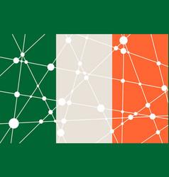 Ireland flag concept vector