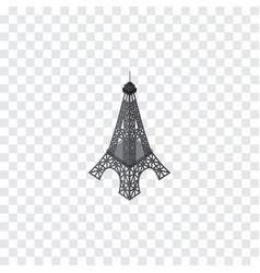 isolated eiffel tower isometric paris vector image