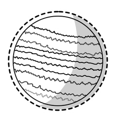 Isolated space planet design vector