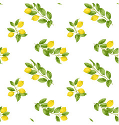 lemon brunches seamless pattern vector image