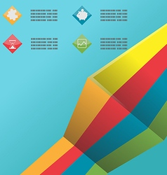 Line Color Info Graphic Template vector image