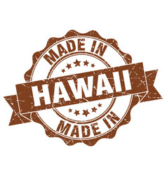 Made in hawaii round seal vector