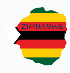 Map of zimbabwe with the image of the national vector