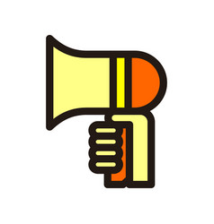 megaphone icon isolated on white background from vector image