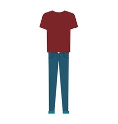 men casual clothes icon vector image