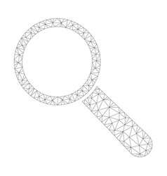 Mesh search tool icon vector