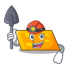 Miner parallelogram mascot cartoon style vector