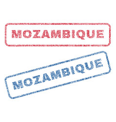 Mozambique textile stamps vector