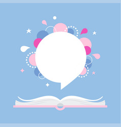 Open book with space for quote or phrase vector