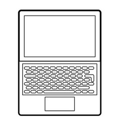 open laptop device keyboard screen technology vector image